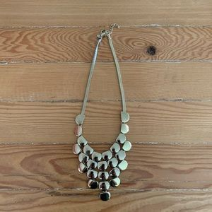 Express Gold Tone Bib Statement Necklace